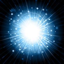 Blue Light Explosion