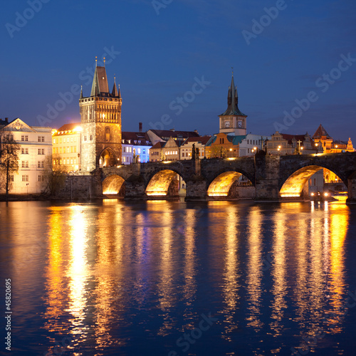 Photo  Charles Bridge in the Prague