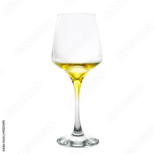 Foto op Canvas Alcohol yellow wine glass