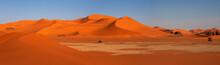 Panorama Of Sand Dunes, Sahara...