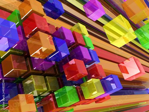 abstrakcyjne-kolorowe-i-trojwymiarowe-bloki-szescienne