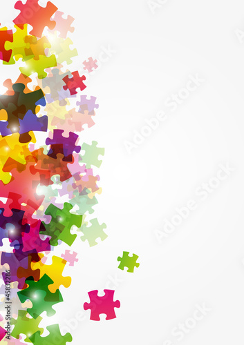Naklejka na meble Puzzle color background