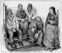 Laplanders Or Sami People, Vintage Engraving