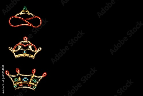 Photo Three Kings Crowns against black © Arena Photo UK