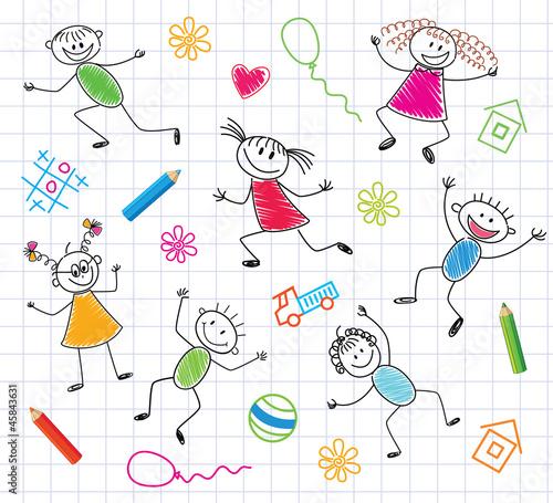 smieszne-dzieci-kolorowe-tlo
