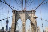 Brooklyn Bridge with American Flag