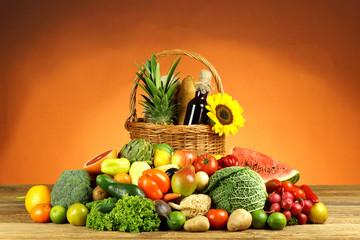 Warzywa z owocami