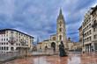 Vista general de la plaza de la catedral en Oviedo.