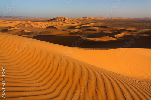 Poster Algérie Sand dunes, desert