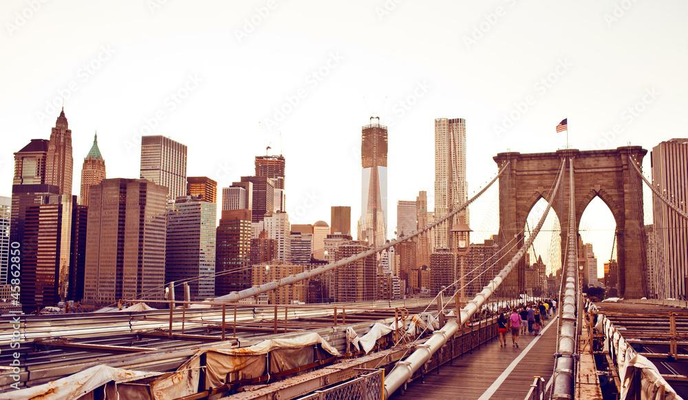 Fototapety, obrazy: Brooklyn Bridge in New York