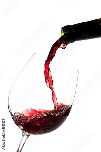 Tela Llenando la copa de vino