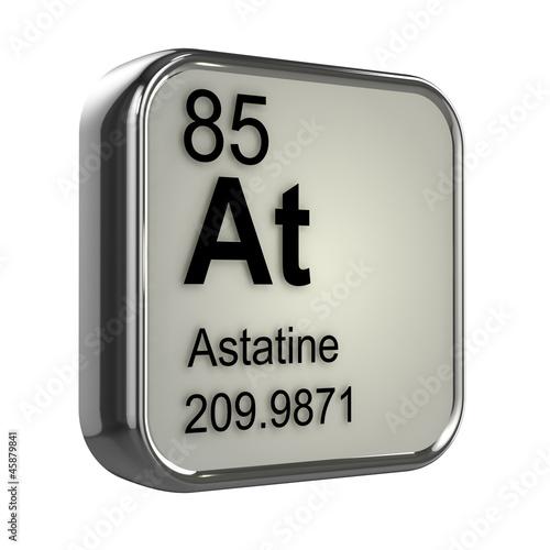 3d Periodic Table - 85 Astatine Wallpaper Mural