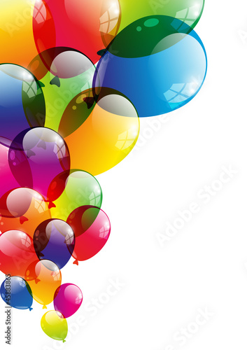 Balloon background Poster