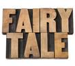 fairy tale in wood type