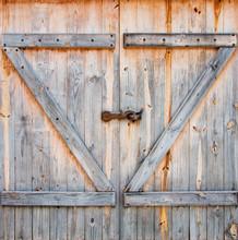 Detail Of Wooden Barn Door
