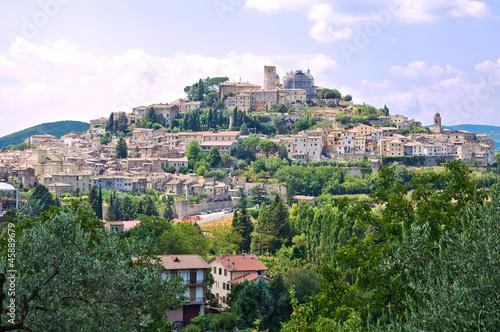 Panoramic view of Amelia. Umbria. Italy. Canvas Print