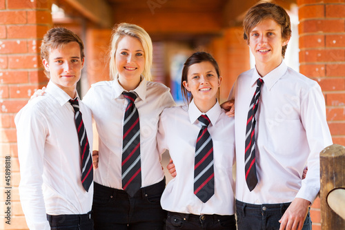 Foto group of high school students portrait