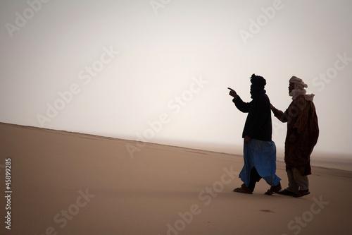 Wall Murals Algeria Two tuaregs in Sahara