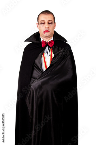 Photographie  Portrait of a man with Count Dracula style make-up. Shot in a st