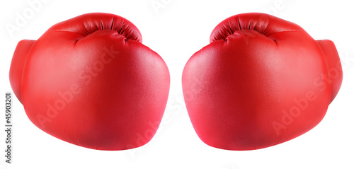 Photo  Boxing gloves isolated