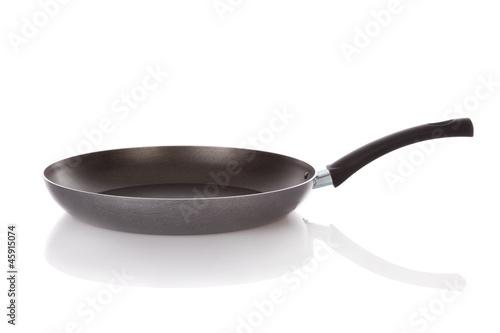 Fotografie, Obraz  Teflon frying pan isolated on white background