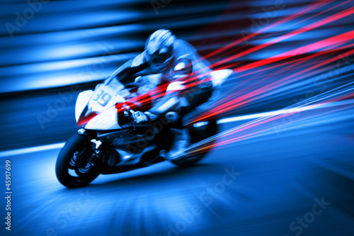 dynamic motorcyclist #45917699