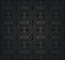 Black Victorian  Wallpaper