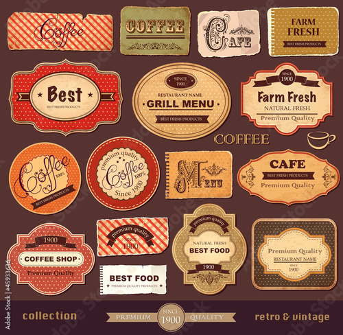 Recess Fitting Vintage Poster Vector collection: vintage and retro labels