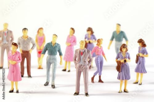 Fotografie, Obraz  Toy, miniature figures of human