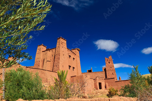 Papiers peints Maroc Beautiful view of kasbah Ait ben Haddou in Morocco