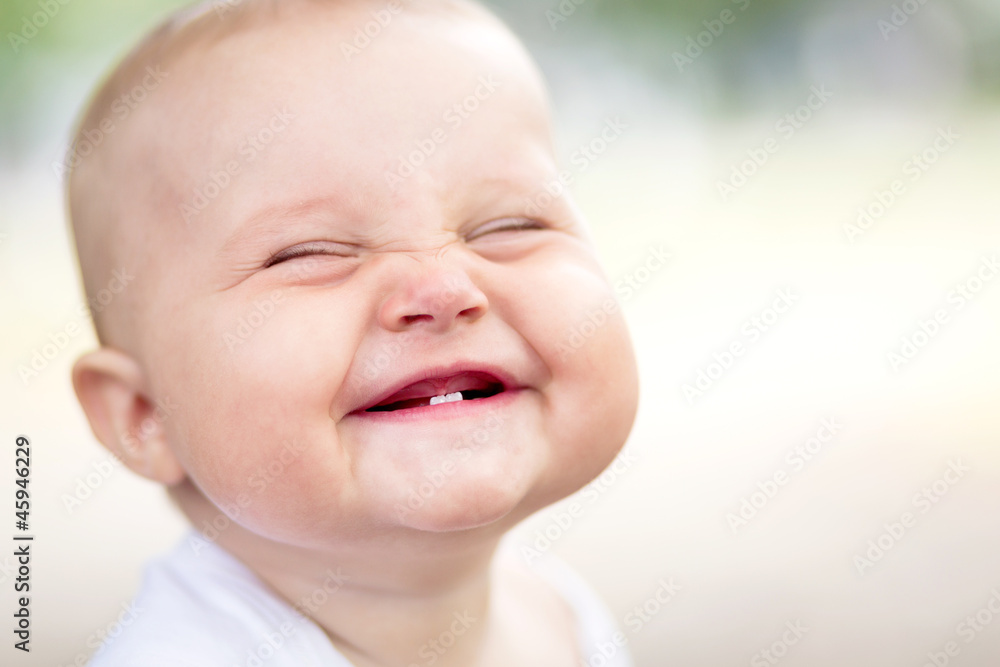 Fototapety, obrazy: Beautiful smiling cute baby