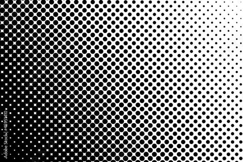Fotografiet  Trame dégradée pointillée noir et blanc