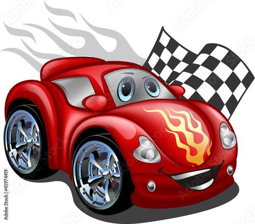 Fotobehang Cartoon cars Carrinho vermelho