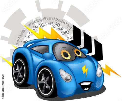 Foto op Canvas Cars Carrinho azul
