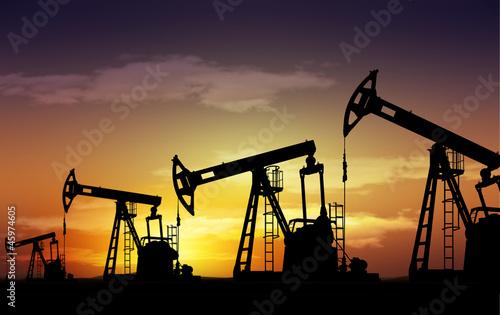 Fotografia  pump jack oil field