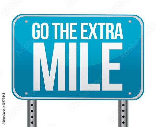 Photo  go the extra mile illustration design