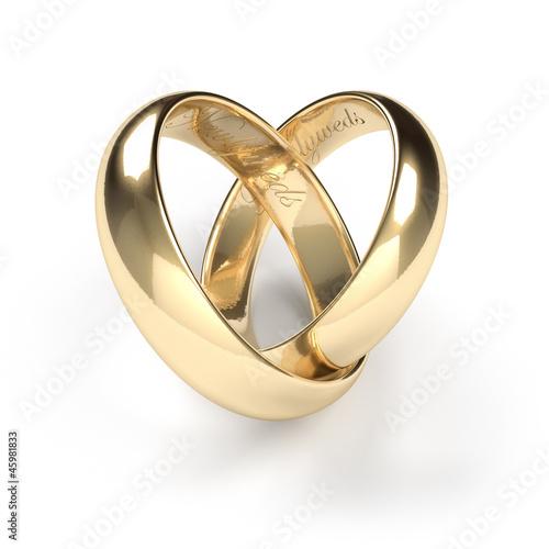 Fotografía  Wedding rings, engraved