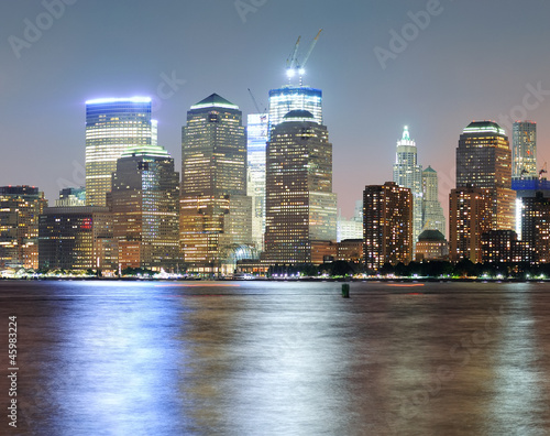 Fototapeta premium New York City Manhattan panorama zmierzchu