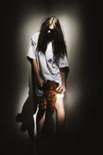 Young Zombie Girl With Teddy Bear (ancient Version)