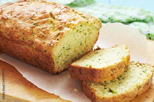 Stampa su Tela Fresh zucchini bread