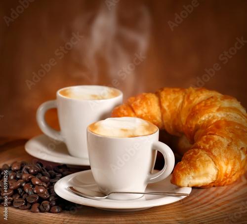 Fototapety, obrazy: Cappuccini e Croissant