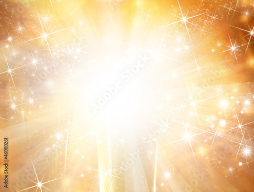 Fotografie, Tablou  Abstract gold christmas background