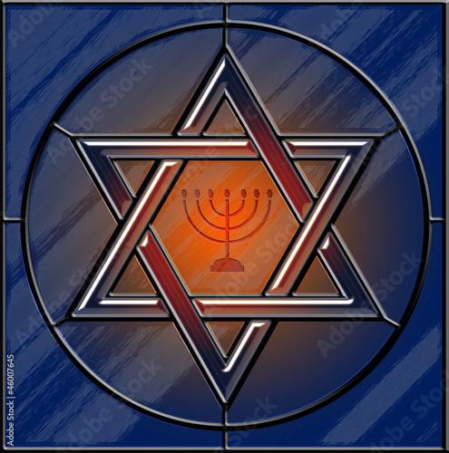 gwiazda-dawida-i-witraze-menory