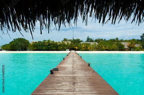 Foto op Canvas Strand Tropical boardwalk