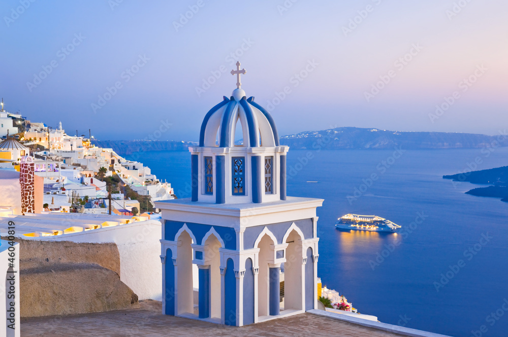 Fototapeta Santorini sunset - Greece