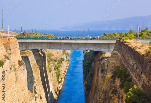 Foto op Aluminium Oceanië Corinth channel in Greece