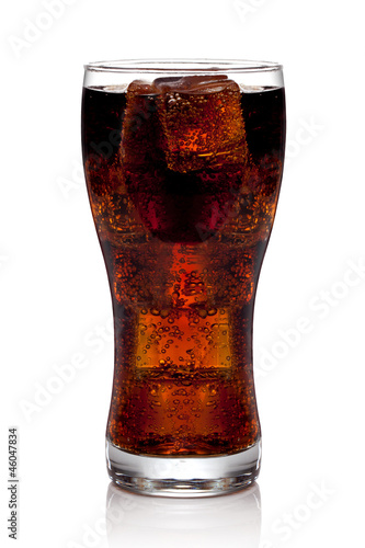 Cola glass with ice cubes #46047834