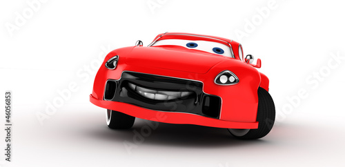 Funny toon car