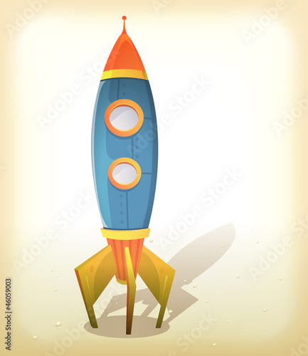 Cadres-photo bureau Cosmos Retro Spaceship Landing