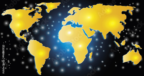 Türaufkleber Weltkarte World map concept